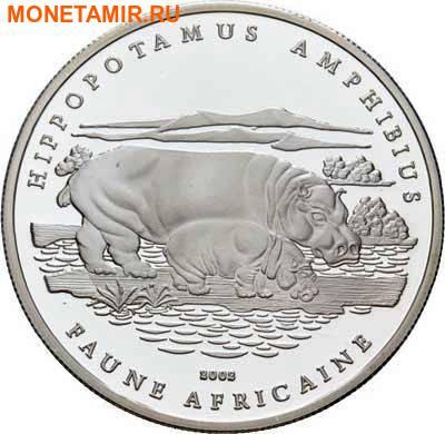 Чад 1000 франков 2002.Бегемот с детенышем.Арт.60