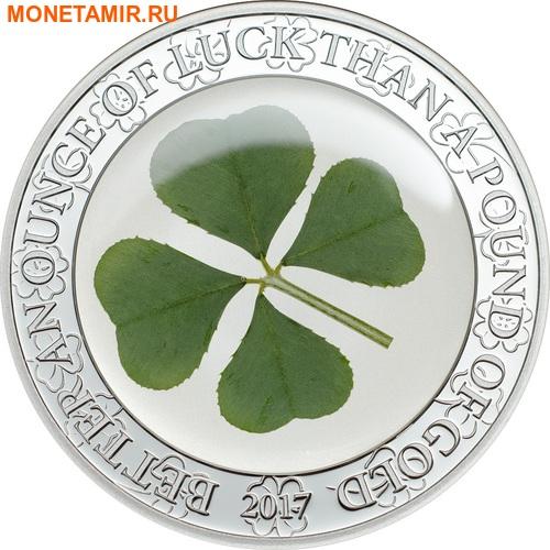 Палау 5 долларов 2017 Клевер – Унция удачи (Palau 5$ 2017 Ounce of Luck 4-leaf clover).Арт.60 (фото)