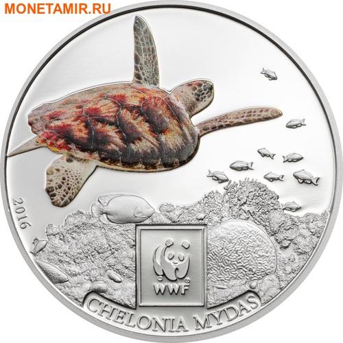 Танзания 100 шиллингов 2016.Зеленая морская черепаха - WWF.Арт.60 (фото)