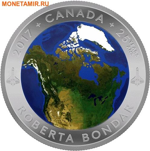 Канада 25 долларов 2016.Канада из Космоса (Выпуклая форма).Арт.60 (фото)