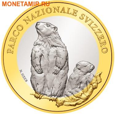 Швейцария 10 франков 2010.Альпийский сурок (Alpine Marmot) – Швейцарский национальный парк.Арт.60 (фото)