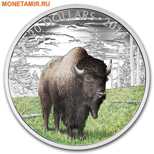 Канада 20 долларов 2016.Бизон серия Величественные животные.Арт.60 (фото)