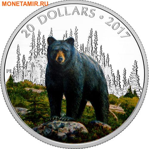 Канада 20 долларов 2017.Медведь серия Величественные животные.Арт.60 (фото)