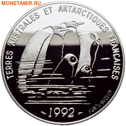Франция 100 франков 1992.Пингвины – Французские Антарктические Территории.Арт.60 (фото)