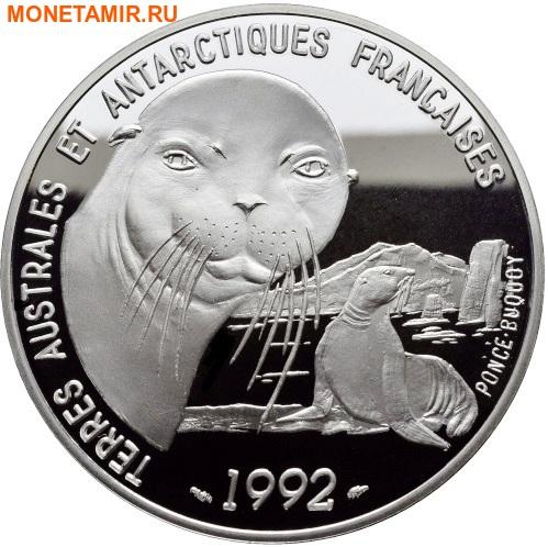 Франция 100 франков 1992.Тюлени – Французские Антарктические Территории.Арт.60 (фото)