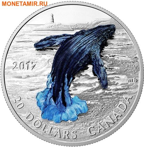 Канада 20 долларов 2017 Кит 3D Маяк (Canada 20C$ 2017 Whale 3D Lighthouse).Арт.000516254468/60 (фото)