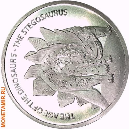 Буркина Фасо 500 франков 2016.Динозавр – Стегозавр (Stegosaurus).Арт.60 (фото)
