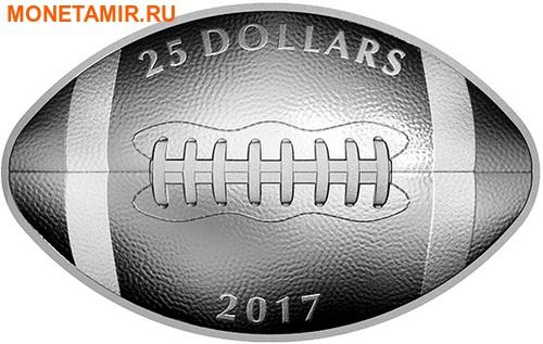 Канада 25 долларов 2017.Канадский футбол – Мяч (Выпуклая форма).Арт.60 (фото)