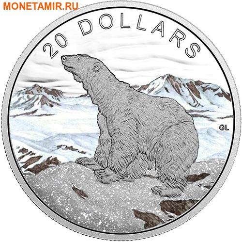 Канада 20 долларов 2017 Полярный медведь – Сияющий север (Canada 20$ 2017 Glistening North The Polar Bear).Арт.000529352988/60 (фото)