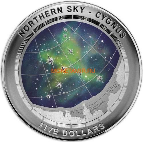 Австралия 5 долларов 2016 Созвездие Лебедь Северное Полушарие Выпуклая (Australia 5$ 2016 Northern Sky Cygnus Domed 1oz Silver Coin).Арт.60 (фото)