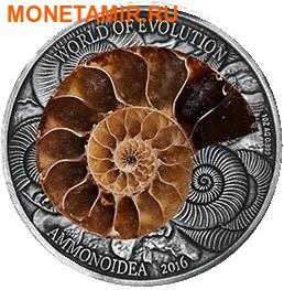 Буркина Фасо 1000 франков 2016 Аммонит – Мир эволюции (Ammonite Fossil).Арт.60 (фото)