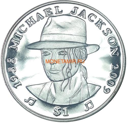 Сьерра Леоне 1 доллар 2009 Майкл Джексон (Sierra Leone 1$ 2009 Michael Jackson).Арт.000050338789/60 (фото)