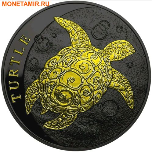 Ниуэ 2 доллара 2016.Черепаха (Black Ruthnium).Арт.60 (фото)