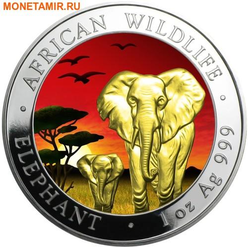Сомали 100 шиллингов 2015.Слоны.Арт.60 (фото)
