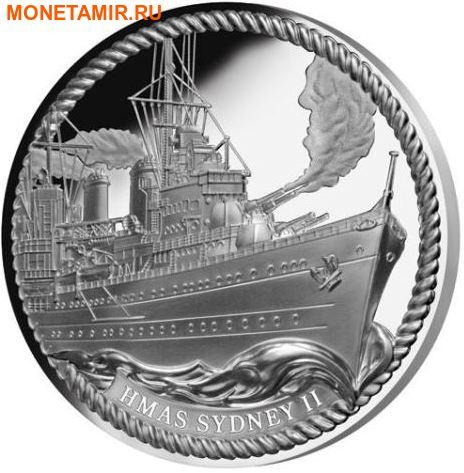 Ниуэ 1 доллар 2016.Корабль Сидней (HMAS Sydney).Арт.60 (фото)