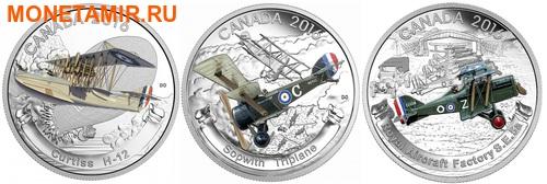 Канада 3х20 долларов 2016.Самолеты Первой Мировой войны.Арт.60 (фото)