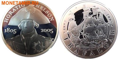 Великобритания 2х5 фунтов 2005.Адмирал Нельсон – Трафальгарское сражение.Арт.60 (фото)