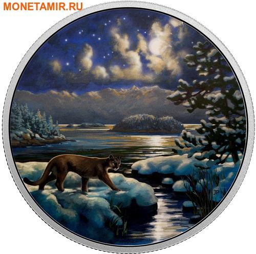 Канада 30 долларов 2017.Пантера в Лунном свете.Арт.60 (фото)