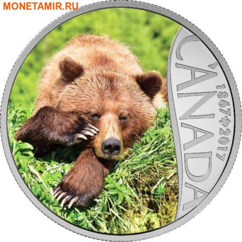 Канада 10 долларов 2017.Медведь Гризли – 150 лет Празднования Канады.Арт.60 (фото)