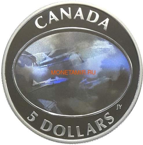 Канада 5 долларов 2006.Самолет – Авиашоу (Голограмма).Арт.60 (фото)