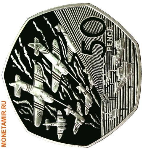 Великобритания 50 пенсов 1994.День-Д – Высадка в Нормандии.Арт.60 (фото)