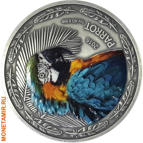 Буркина Фасо 1000 франков 2016.Попугай (Parrot).Арт.60