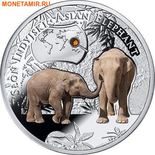 Ниуэ 1 доллар 2016.Азиатский Слон серия Вымирающие виды животных.Арт.60 (фото)