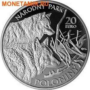 Словакия 20 евро 2010.Волки – Национальный парк Полонины.Арт.60 (фото)