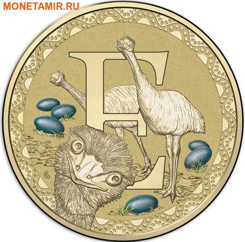 Австралия 1 доллар 2017.Алфавит – E – Страус (Блистер).Арт.000086253546/60 (фото)