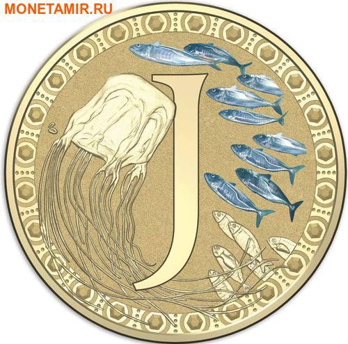 Австралия 1 доллар 2017.Алфавит – J – Медуза (Блистер).Арт.000086253551/60