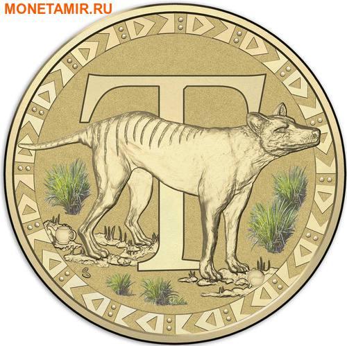 Австралия 1 доллар 2017.Алфавит – T – Тасманийский тигр (Блистер).Арт.000086253561/60 (фото)
