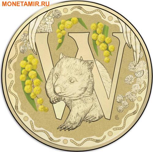 Австралия 1 доллар 2017.Алфавит – W – Вомбат (Блистер).Арт.000086253564/60 (фото)