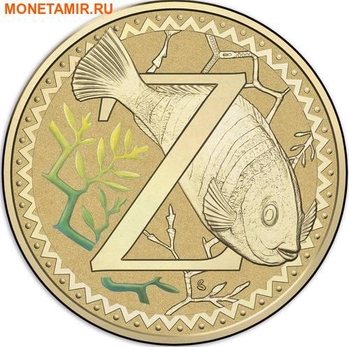 Австралия 1 доллар 2017.Алфавит – Z – Рыба зебра (Блистер).Арт.000086253567/60 (фото)