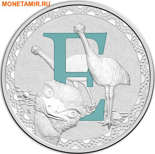 Австралия 1 доллар 2017.Алфавит – E – Страус.Арт.000272953519/60 (фото)