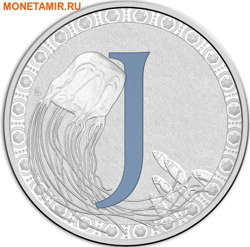 Австралия 1 доллар 2017.Алфавит – J – Медуза.Арт.000272953524/60 (фото)