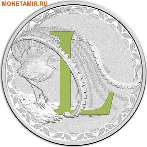 Австралия 1 доллар 2017.Алфавит – L – Лирохвост.Арт.000272953526/60 (фото)