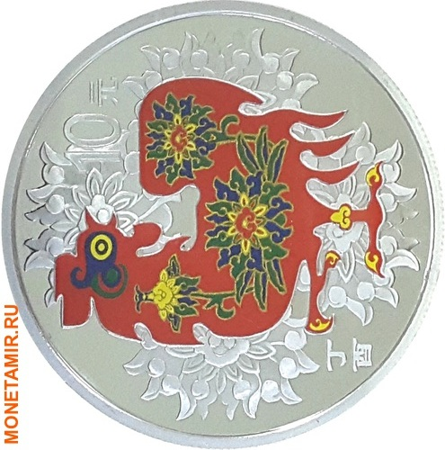 Китай 10 юаней 2017.Год петуха – Лунный календарь.Арт.60 (фото)