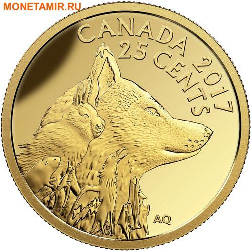 Канада 25 центов 2017.Лиса.Арт.60 (фото)