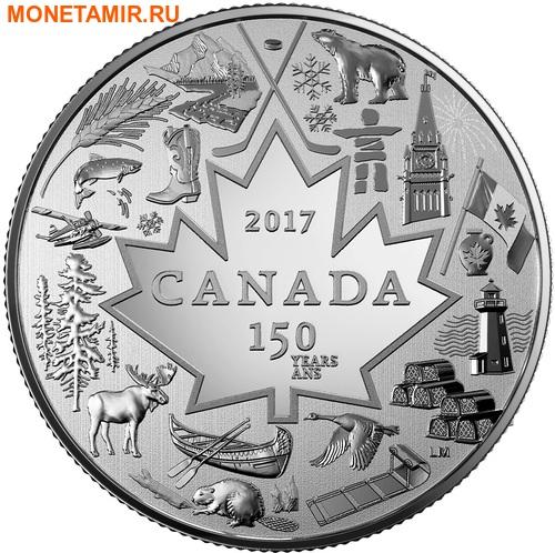Канада 3 доллара 2017 Символы Канады – 150 лет празднования Канады (Блистер).Арт.60 (фото)