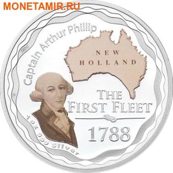 Австралия 1 доллар 2008.Капитан Артур Филипп – Первый Флот.Арт.60 (фото)