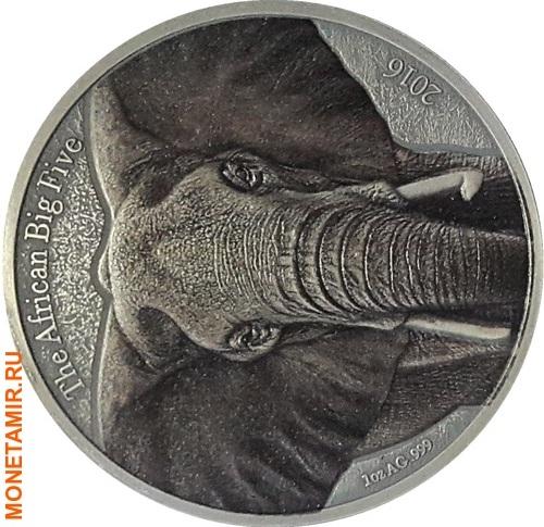 Буркина Фасо 1000 франков 2016 Слон (Эмаль).Арт.60 (фото)