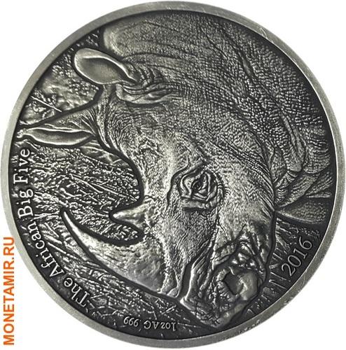 Буркина Фасо 1000 франков 2016 Носорог.Арт.60 (фото)
