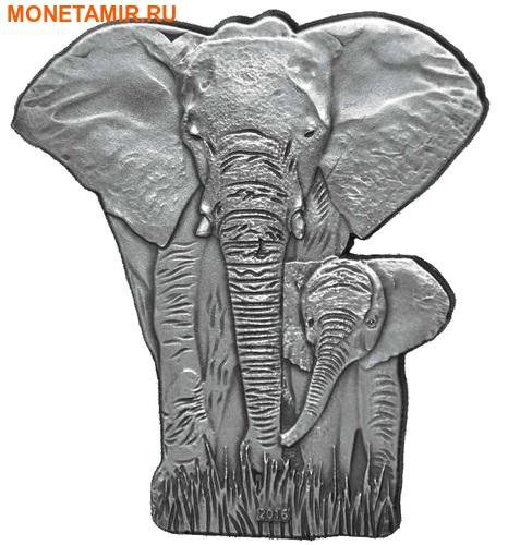 Буркина Фасо 1000 франков 2016 Слон с детенышем.Арт.60 (фото)