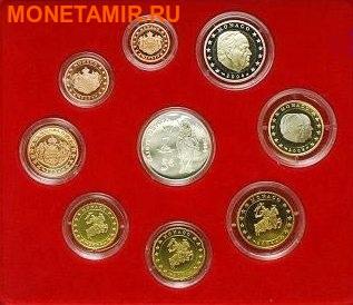 Монако 2004 8,88 евро Официальный годовой набор и 5 евро Святая Девота (9 монет).Арт.003475039221/60 (фото)
