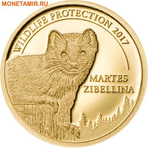 Монголия 1000 тугриков 2017 Соболь (Martes zibellina) серия Охрана дикой природы.Арт.000231254034/60 (фото)
