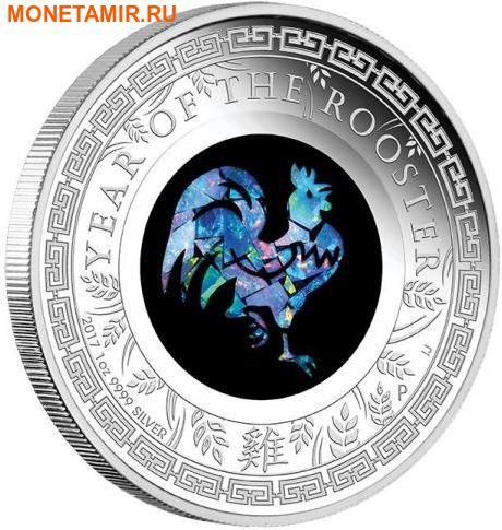 Австралия 1 доллар 2017 Год Петуха Лунный календарь Опал.Арт.000389153919/60 (фото)