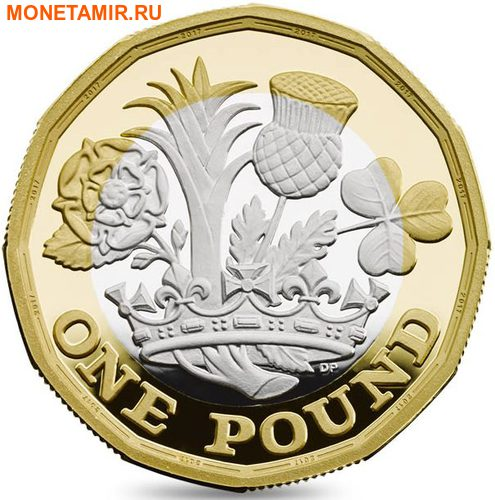 Великобритания 1 фунт 2017 Новый фунт Символы Королевства.Арт.000435353973/60 (фото)