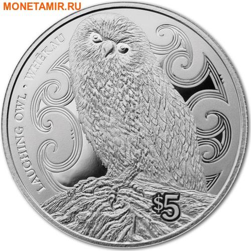 Новая Зеландия 5 долларов 2017 Сова.Арт.000511953982/60 (фото)