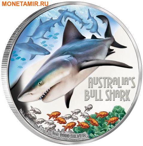 Тувалу 1 доллар 2017 Бычья Акула серия Смертельно Опасные (Tuvalu 1$ 2017 Deadly Dangerous Bull Shahr).Арт.000363354003/60 (фото)