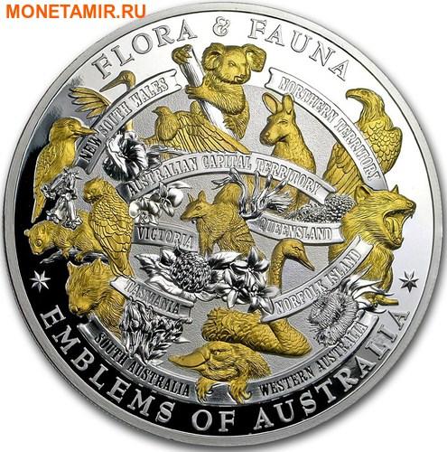 Ниуэ 10 долларов 2017 Флора и Фауна – Символы Австралии (Попугай Коала Кенгуру Вомбат Кукабарра Орел..).Арт.001776953992/60 (фото)